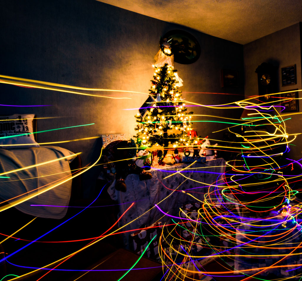 Long Exposure With Christmas Lights
